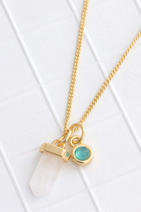 Birthstone Necklace March / Aquamarine
