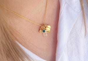 Rose Gold Birthstone Charm