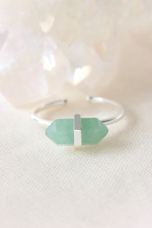 Green Aventurine Silver Ring
