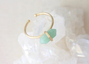 Gold Aventurine Intention Ring
