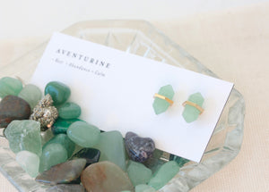 Gold  Aventurine Intention Studs