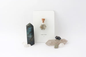 labradorite healing gemstones on gift tag
