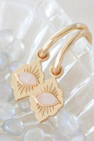 Gold Third Eye Hoops