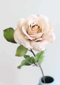 "Shimmer Beige Fake Rose Flower - 24"" Tall"