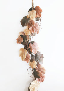 Autumn Fake Fall Fig Leaves Garland - 6'