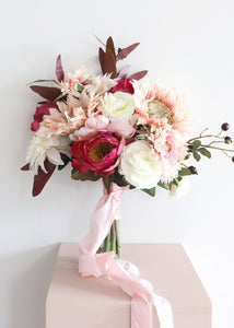 Pink Sunflower and Peony Bouquet - Ships Alone