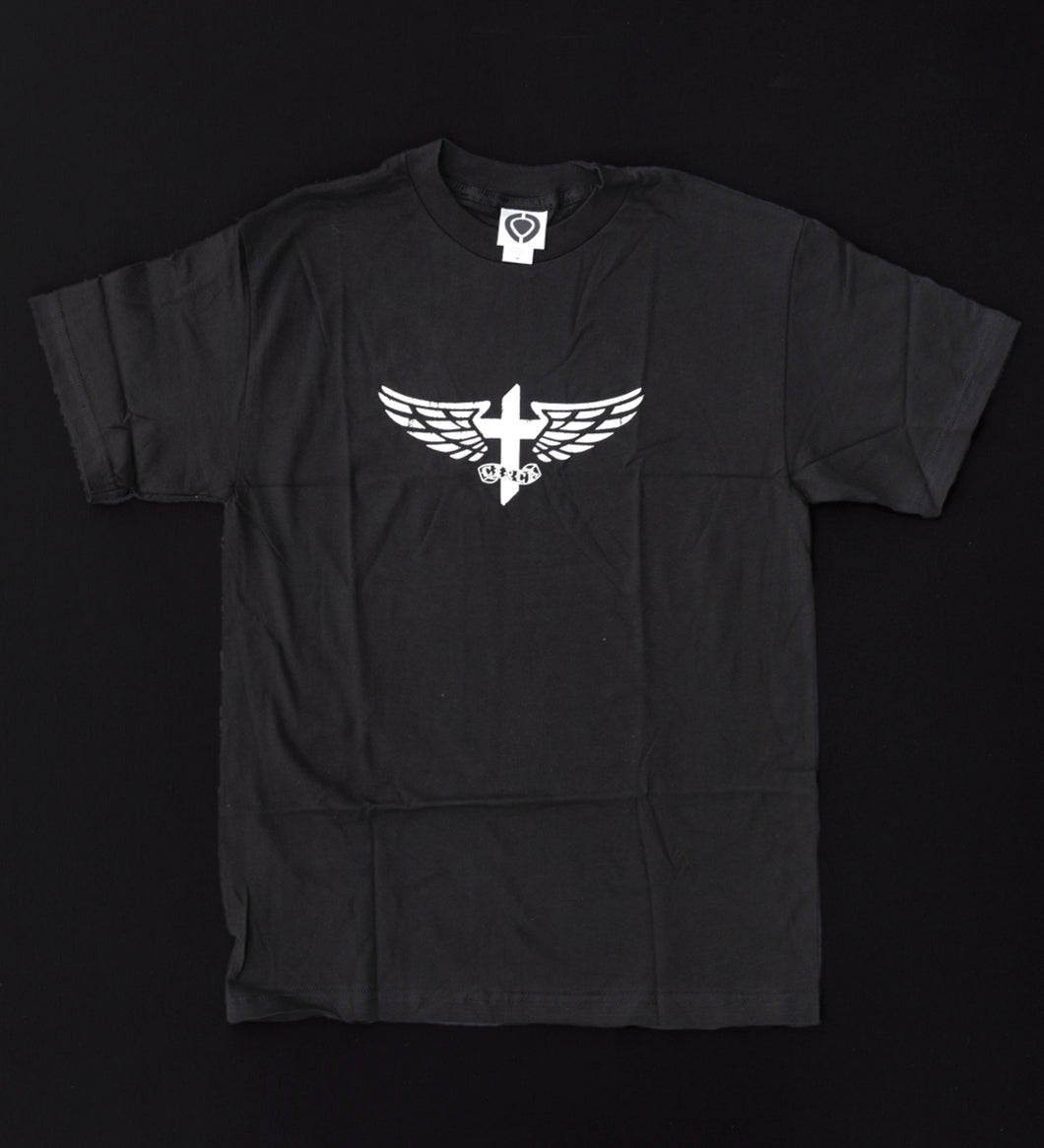 THOMAS 'CROSS & WINGS' T-SHIRT (BLK)