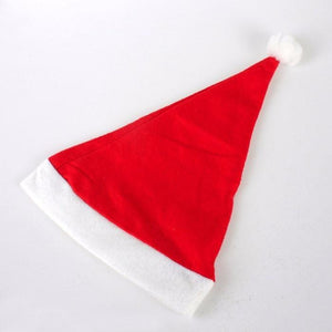 2pcs Adult Unisex Xmas Red Caps Santa Novelty Hat