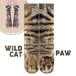 Flurry 3D Animal Paw Socks