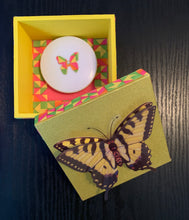 Load image into Gallery viewer, Yellow Shimmer/3D Butterfly