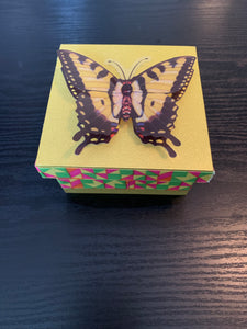 Yellow Shimmer/3D Butterfly