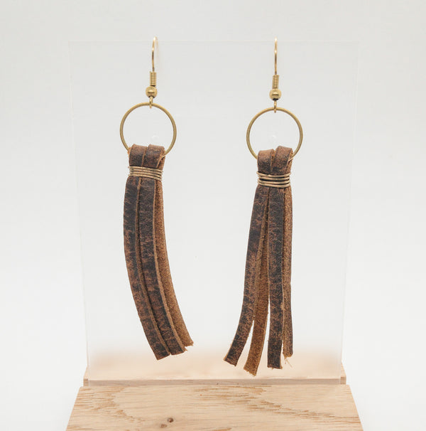 LEATHER TASSEL - RUSTIC BROWN