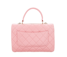 Load image into Gallery viewer, CHANEL 2019 Small Rose Pink Chevron Trendy Top Handle Bag