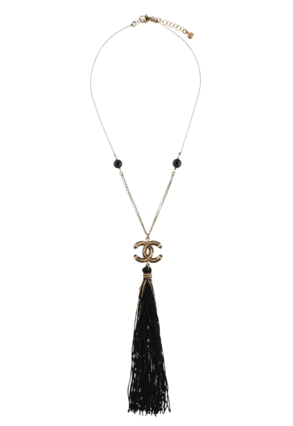 CHANEL Paris-Shanghai Tassel Pendant Necklace