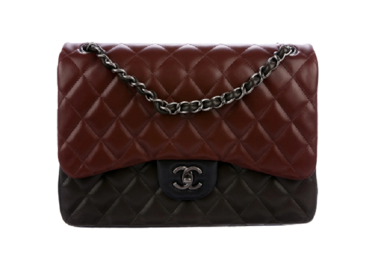 lenvie-de-luxe - Chanel Classic Tri-Tone Jumbo Double Flap Bag - Chanel - Handbags
