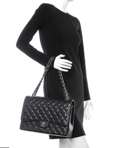 CHANEL Classic Black Maxi Double Flap Bag
