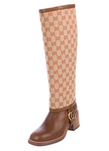 Load image into Gallery viewer, Gucci 2019 Gaiter-Overlay Knee-High Boots - Size 6
