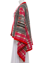 "Load image into Gallery viewer, lenvie-de-luxe - HERMÈS Wool & Leather Accented Cape in ""Emmys"" Red & Pink - Size XS - Hermès - Cape"