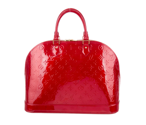 LOUIS VUITTON Pomme D'Amour Vernis Alma GM - 50% OFF!!