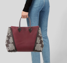 "Load image into Gallery viewer, LOUIS VUITTON ""W"" Monogram Velours Leather Tote - Special Edition"