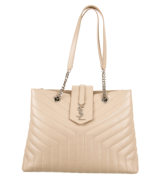 lenvie-de-luxe - Yves Saint Laurent Loulou Monogram Mattelasse Tote in Tan - Yves Saint Laurent - Handbags