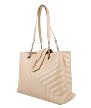 Load image into Gallery viewer, lenvie-de-luxe - Yves Saint Laurent Loulou Monogram Mattelasse Tote in Tan - Yves Saint Laurent - Handbags