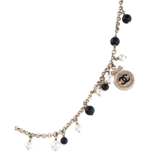 CHANEL Gorgeous Gold Resin, Pearl & Enamel Bead Necklace