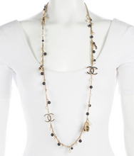 Load image into Gallery viewer, CHANEL Gorgeous Gold Resin, Pearl & Enamel Bead Necklace