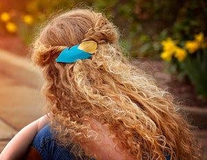 Gold Dipped Turquoise Feather
