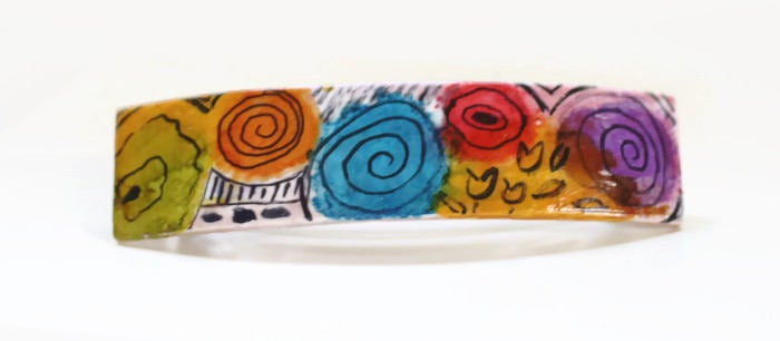 Colorful Op Art Hair Barrette
