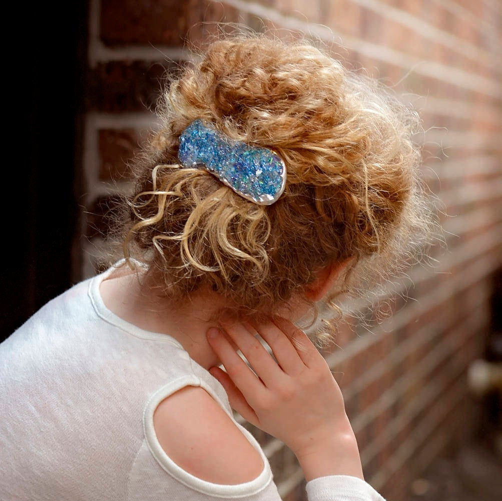 Seaglass Blue Mermaid Barrette