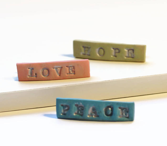 Love, Peace + Hope Mini Hair Snaps