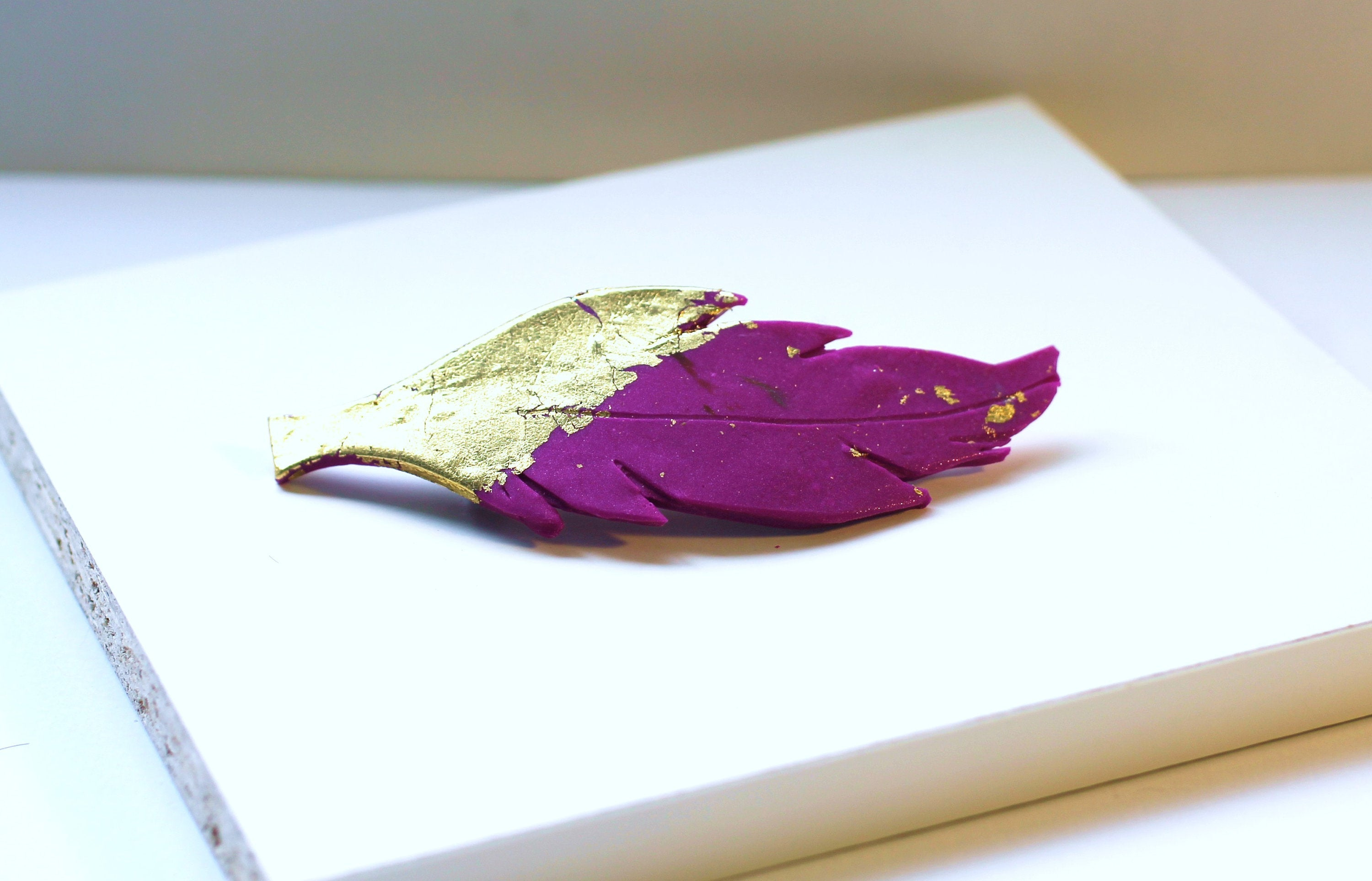 Golden Fuschia Feather