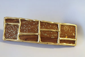 Natural Brown Lattice Hair Barrette