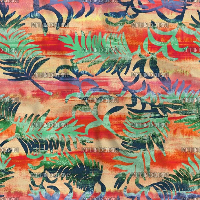 Reds13_Tiedye leaves - PatternExclusive
