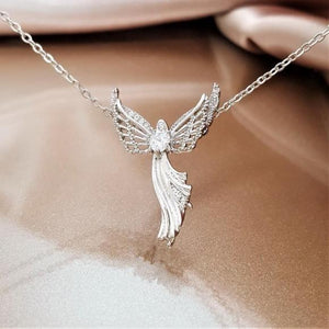 Wings Of Courage Guardian Angel Necklace
