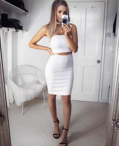 'Lola' Choker Split Dress