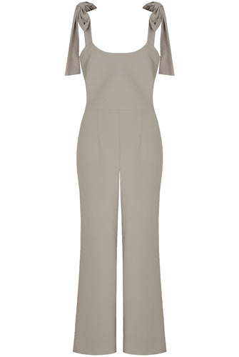 'Luna' Tie Shoulder Flared Jumpsuit