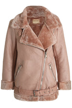 Load image into Gallery viewer, 'Kristy' Fur Enlined PU Jacket