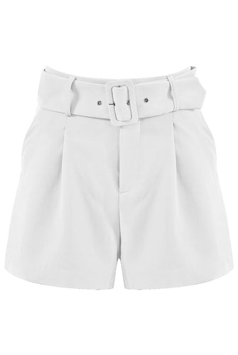 'Lucee' White Belted Shorts