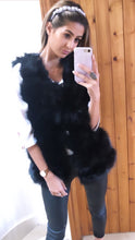 Load image into Gallery viewer, 'Aaliyah' Black Faux Fur Gilet