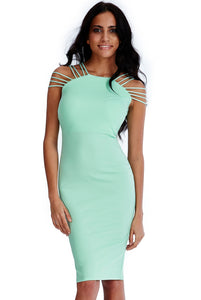 'Lily' Multi Strap Mint Dress