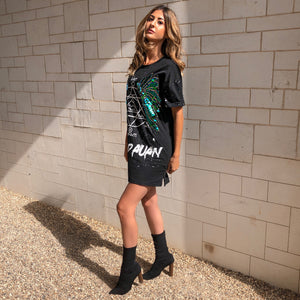 'Alicia' Sequin Tee Dress
