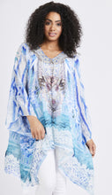 Load image into Gallery viewer, 'Sisi' Blue Patterned Kaftan