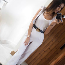 Load image into Gallery viewer, 'Luna' Tie Shoulder Flared Jumpsuit