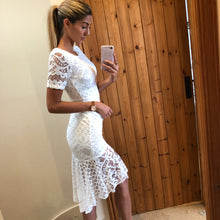 Load image into Gallery viewer, 'Tulisa' White Lace Frill Dress
