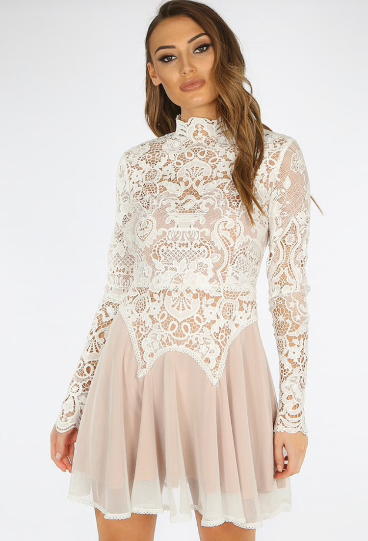 'Yasmin' Lace Swing Dress