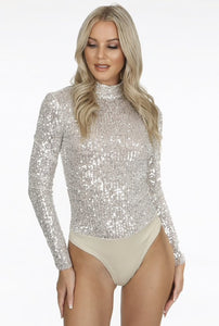 'Kallie' Sequin Bodysuit