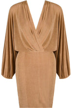 Load image into Gallery viewer, 'Lanah' Taupe Wrap Dress