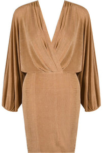 'Lanah' Taupe Wrap Dress